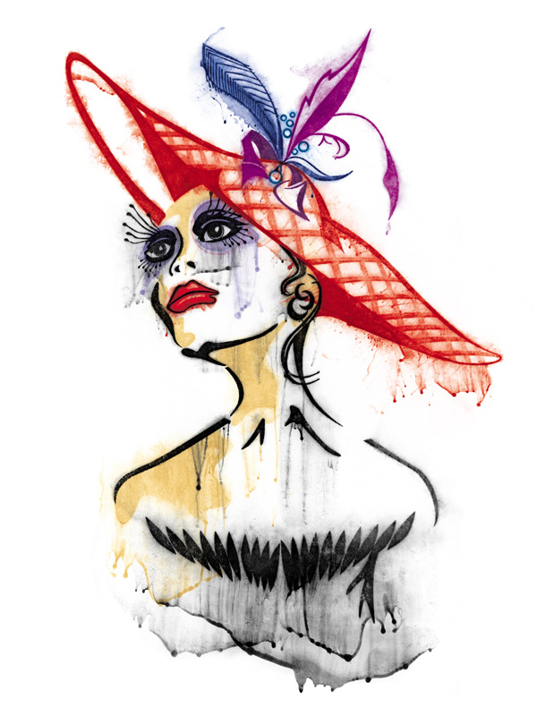 Women In Hats A Salute To 80s Fashion Illustration